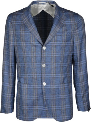 Barba Napoli Light Blue Silk-cashmere Blend Gimmy Blazer