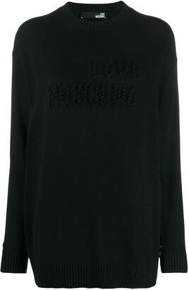 Love Moschino pompom detail jumper