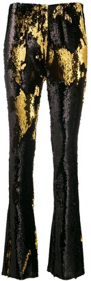 Marques Almeida Sequin Bootleg Trousers