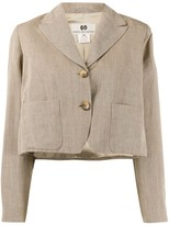 Dries Van Noten Pre Owned 1990s boxy cropped jacket