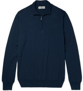 Canali Cotton Half-Zip Sweater