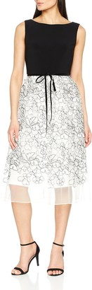 Gina Bacconi Women's Maia Floral Embroidered Party Dress