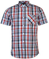 Soviet Short Sleeve Check Shirt Mens