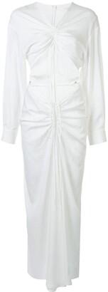 CHRISTOPHER ESBER Ruched Knit Dress