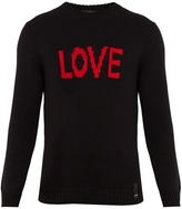 Fendi Love-jacquard wool sweater