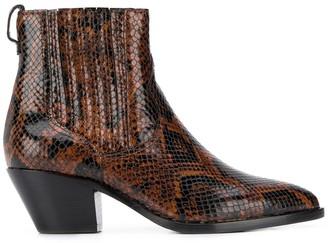 Ash Floyd Bis snakeskin-effect boots