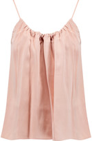 Helmut Lang Pleated silk-satin camisole