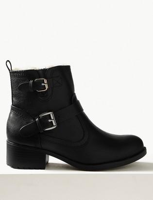 Marks and Spencer Biker Block Heel Ankle Boots