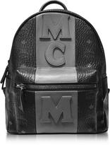 MCM Stark Stripe Black Medium Backpack