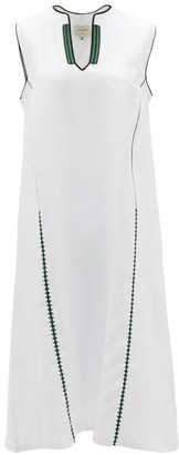 ZEUS + DIONE Tinos Embroidered Linen Dress - White