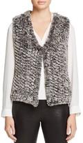 Aqua Knit Faux Fur Vest