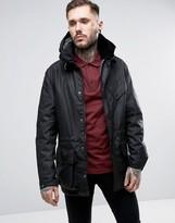 Barbour Onyx Waxed Parka Jacket Detachable Hood