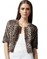 Leopard-Print Fur Jacket