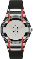 Swatch Unisex Swiss Es War Einmal Black Silicone Strap Watch 41mm SUOB129