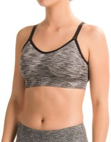 Pony Seamless Sports Bra - Racerback, Removable Cups, Low Impact (For Women)