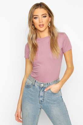 boohoo 100% Cotton Crew Neck T-Shirt