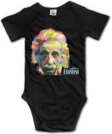 SUSANHO Albert Einstein Baby's Printed Newborn Baby Jumpsuit Clothes