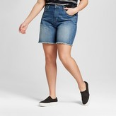 Mossimo Women's Plus Size Denim Boyfriend Shorts Medium Wash
