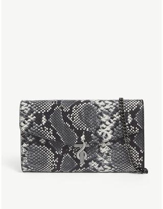 Ted Baker Kearla snake print clutch bag