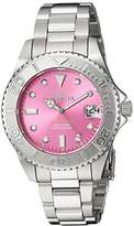 Invicta Women's 'Pro Diver' Quartz Stainless Steel Diving Watch, Color:Silver-Toned (Model: 24627)