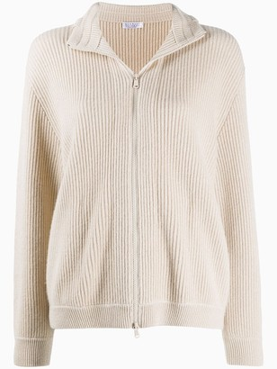 Brunello Cucinelli Monili-Detail Zipped Cardigan