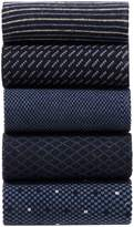 Mens Next Navy Formal Mix Pattern Socks Five Pack