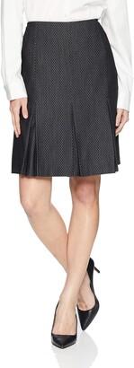 Kasper Women's Petite PIN DOT Pleated Flare Skirt