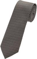 Oxford Silk Tie Gry/Blk