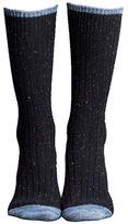 Lemon Falling Leaves Wool Blend Tweed Boot Socks