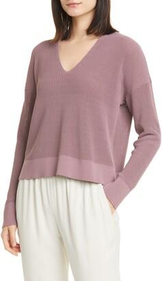 Eileen Fisher Boxy V-Neck Pullover