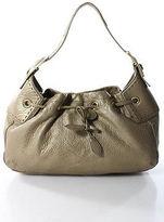 Cole Haan Gold Metallic Leather Magnetic Hobo Handbag