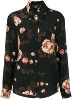 Rochas rose print shirt - women - Silk - 42
