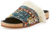 Chloé Kerenn Kilim-Rug Slide Sandal, Multicolor