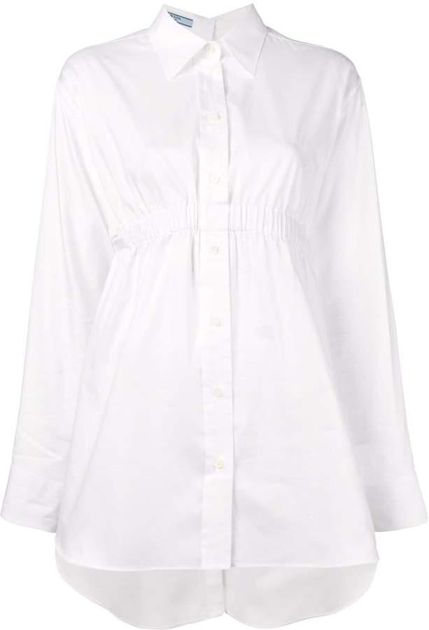 Prada ruched waist shirt