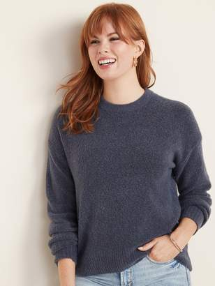 Old Navy Boucle Blouson-Sleeve Sweater for Women