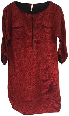 Ikks Burgundy Cotton Dress for Women