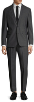 Vince Camuto Wool Dark Grey Notch Lapel Suit