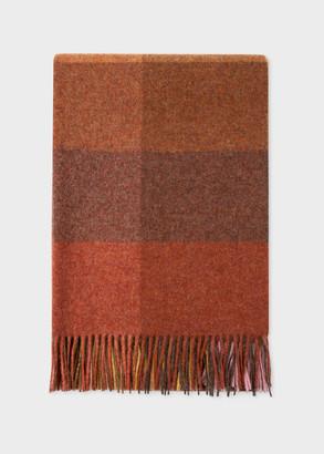 Paul Smith Maharam + Brown Wool Check Blanket