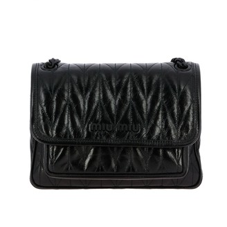Miu Miu Bag In Shiny And Quilted Leather