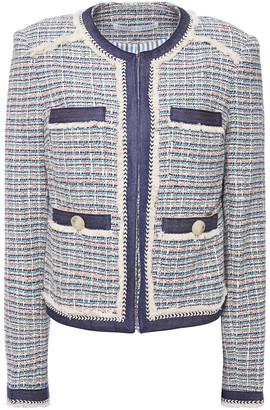 Veronica Beard Frayed Cotton-blend Tweed Jacket