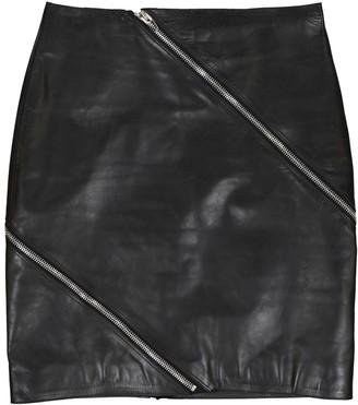 Alexander Wang Black Leather Skirts
