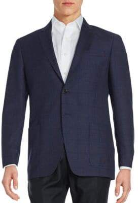 Todd Snyder Windowpane Wool Suit Jacket