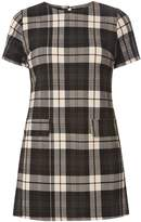 Dorothy Perkins Petite Green and Beige Checked Tunic