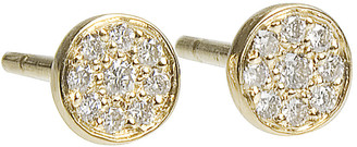 Jennifer Meyer Diamond Circle Stud Earrings