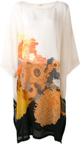 Dries Van Noten floral flared dress - women - Silk - One Size