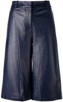 Diane von Furstenberg high-rise flared shorts - women - Lamb Skin/Polyester/Spandex/Elastane - 8