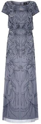 Adrianna Papell Long Beaded Dress