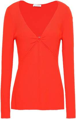 Altuzarra Cutout Ribbed Wool-blend Top