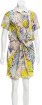 Carven Collared Map Print Dress