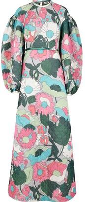 Fendi Floral Print Long Dress